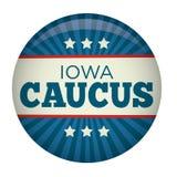 Retro Style Iowa Caucus Campaign Election Pin Button Stock Photos