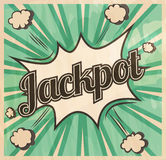 Retro style Jackpot signboard Background. Boom comic book explosion Stock Images