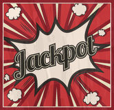 Retro style Jackpot signboard Background. Boom comic book explosion Stock Photo