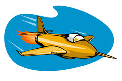 Retro style jet plane. Vector art of a Retro style jet plane Royalty Free Stock Images