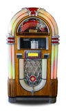 Retro style jukebox. A retro style jukebox isolated on white Stock Photos
