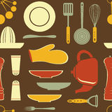 Retro style kitchen pattern Stock Photo