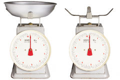 Retro style kitchen scales royalty free stock image