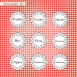 Retro style kitchen spices storage tags collection Stock Image