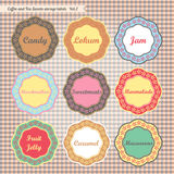 Retro style kitchen sweets storage tags collection. Retro style kitchen food storage tags collection vector Royalty Free Stock Images