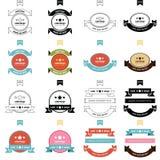 Retro style label 4 Styles set Stock Photos