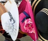 Retro style lady's hats Stock Image