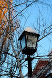 Retro style lamppost in the city park Royalty Free Stock Photo
