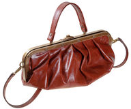 Retro style leather bag Royalty Free Stock Photos