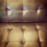 Retro style leather sofa Stock Photography