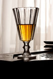 Retro style liquor glass Stock Photography