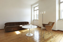 Retro style living-room Royalty Free Stock Images