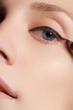 Retro style make-up. Daily makeup detail. Eyeliner. Beautiful eyes Stock Photo
