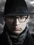 Retro style male portrait Stock Photo