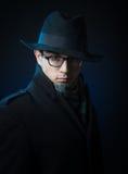 Retro style male portrait Stock Photos