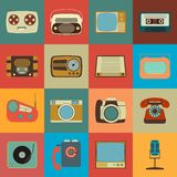 Retro Style Media Icons EPS 10 Royalty Free Stock Photos