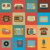 Retro Style Media Icons EPS 10. Retro Style Media Icons. Vintage Elements Royalty Free Stock Photos
