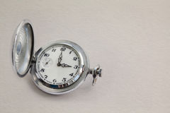 Retro style men's watch with stopwatch. Royalty Free Stock Images