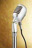 Retro style microphone Royalty Free Stock Photo