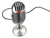 Retro style microphone with Royalty Free Stock Photo