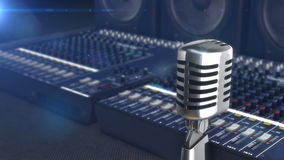 Retro style microphone Stock Photography