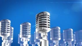 Retro style microphone Stock Photo