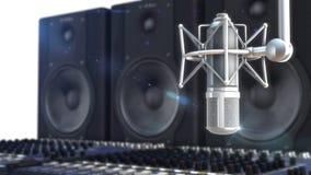 Retro style microphone Royalty Free Stock Photos