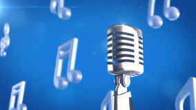 Retro style microphone Royalty Free Stock Images