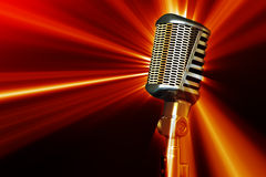 Retro style microphone Royalty Free Stock Image