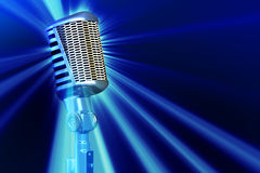 Retro style microphone Stock Images