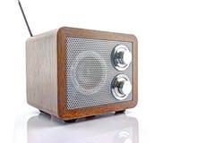 Retro style mini radio player. Isolated on white background Stock Image