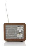 Retro style mini radio player Royalty Free Stock Image