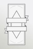 Retro style monochrome emblem with ribbon Stock Photo