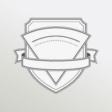 Retro style monochrome emblem with ribbon Royalty Free Stock Photo