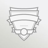 Retro style monochrome emblem with ribbon Royalty Free Stock Photography