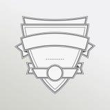 Retro style monochrome emblem with ribbon Royalty Free Stock Photography