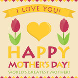 Retro style Mother's Day card Royalty Free Stock Image