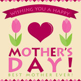 Retro style Mother's Day card Royalty Free Stock Images