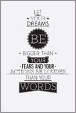 Retro style motivational poster with typography compositions Stock Photos