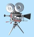 Retro style movie camera Stock Image