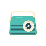 Retro style music radio , vintage vector elements Royalty Free Stock Photo