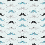 Retro style mustache pattern stock photography