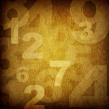 Retro style numbers Royalty Free Stock Photo