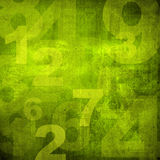 Retro style numbers Royalty Free Stock Photos