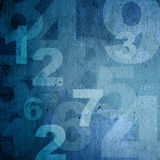 Retro style numbers Royalty Free Stock Image