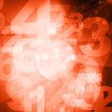Retro style numbers Stock Images