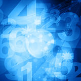 Retro style numbers Royalty Free Stock Photography
