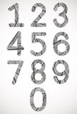 Retro style numbers typeset. Stock Images