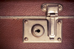 Retro style old case lock close up royalty free stock photo