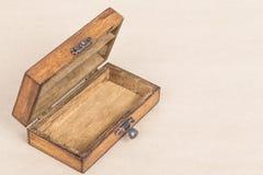 Retro style opened wooden box Stock Image